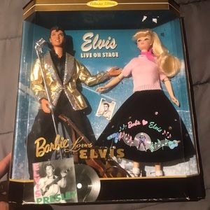 Elvis Presley Barbie collection.